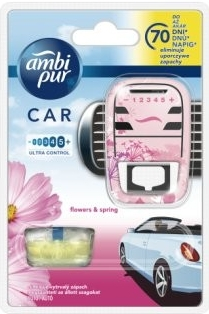 Ambi Pur Car Flowers and Spring strojek + náplň 7 ml
